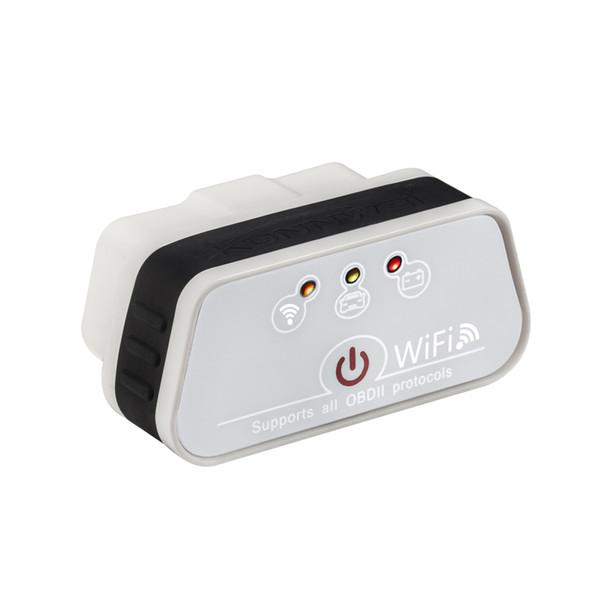 New Super Mini KW901 WIFI ELM327 V1.5 ODB2 OBDII Car Diagnostic Scanner Tool ELM 327 Code Reader Works for iOS Android Phon