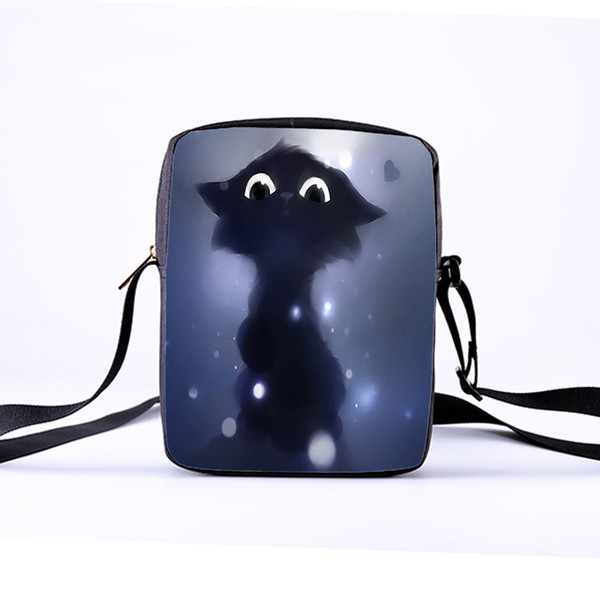 Customizable Children's Crossbody Shoulder Bag Ms. Print Animal Cat Tote Bag Ladies and Girls Messenger Winter Leisure