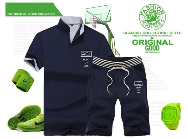 Summer men's summer T-shirt short body short sleeve 5 point short shorts two summer casual fitness suit m-4xl