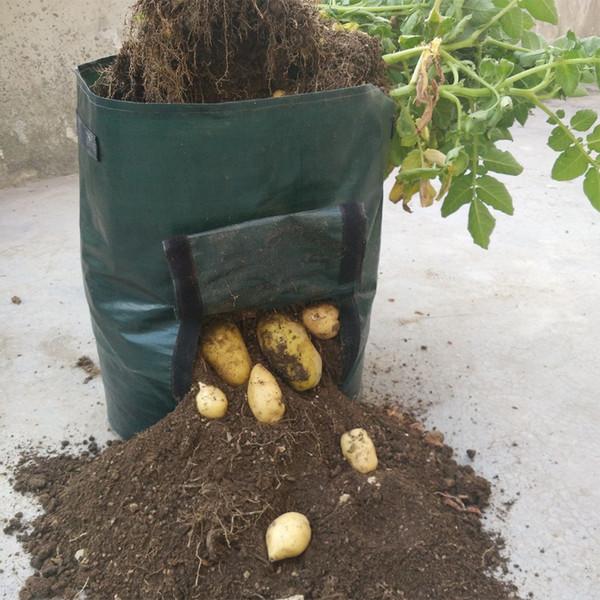 10pcs Woven Potato Cultivation Planting Bags Vegetable Garden Growing Bags Pots Planters Farm Home Garden Farm Supplies