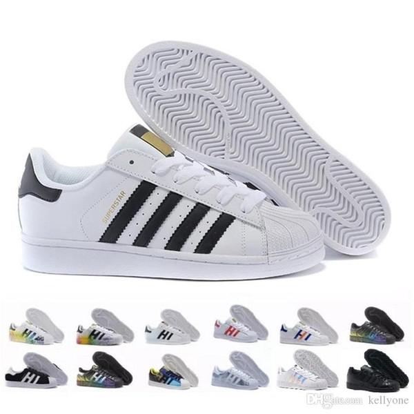 2020 Casual Originals Superstar White Hologram Iridescent Junior Superstars 80s Pride Sneakers Super Star Women Men Sport Casual Shoes 36-45
