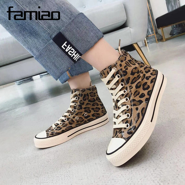 Leopard Top Flat Women 3d Ladies Footwear Basketball Vulcanized Shoes Casual Canvas Mens Sneaker High Tiger Girls Vintage Print 0kOPnw