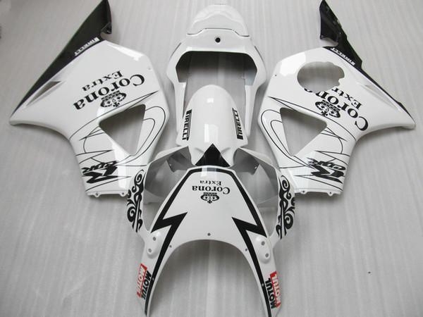 Hot sale fairings set for Honda CBR900RR 2002 2003 CBR954 black white fairing kit 02 03 CBR954RR CBR 954RR DD37