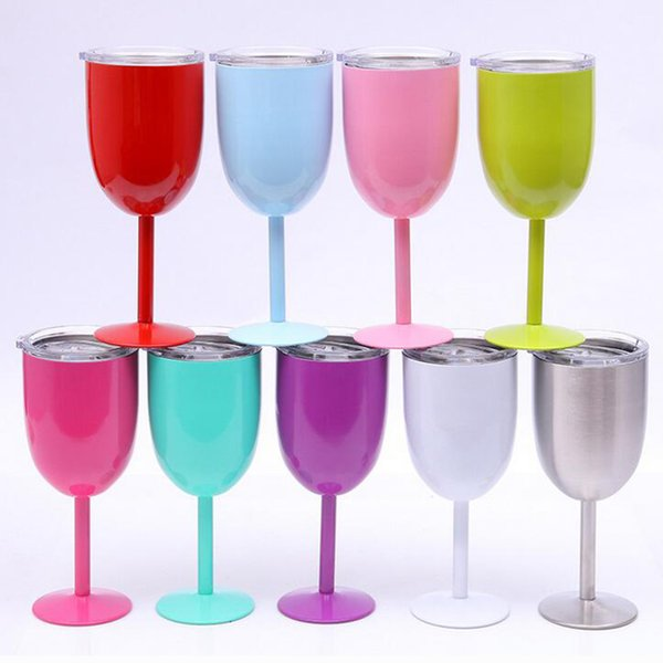best selling 10OZ Stainless Steel Wine glass Anti-broken Wine Glasses Stemware Creative Wine cup Durable Drinkware car cups