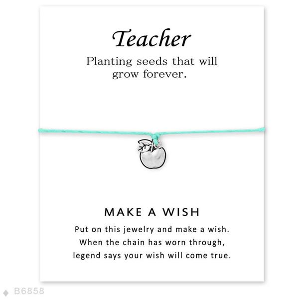 Luxury Wish Teacher Charm bracelets with Card Girls designer Infinity Wristband Bangle For Fashion women Fashion Jewelry Gift