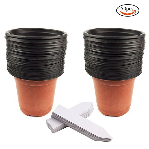 1000 Plastic Flower Seedlings Nursery Pots and 1000 White Plant Labels Free Shipping High Quality