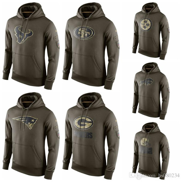 buy online f8ffb 721d7 2018 Pittsburgh Steelers San Francisco 49ers New Patriots Green Bay Packers  Buffalo Bills Cleveland Browns Houston Texans Admiral Green Hoodie From ...