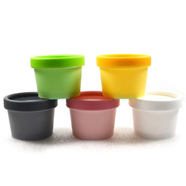 Wholesale- 5pcs 50g Mix 5 Colors Travel Plastic Bottle Facial Mask Cosmetic Cream Containers Split Charging Jars