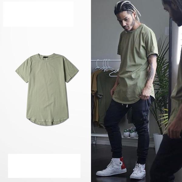 Men Short Sleeve tees t shirts fashion swag extended oversized hba yee hip hop Swag kanye west yee Tees zy Swag last kings tee