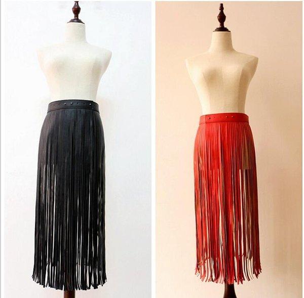 Tassel Women Waist Belt Hippie Boho Band Fringe Faux Leather Ladies Belts High Waist Decorative For Pants Skirt Raidy4400 S18101807