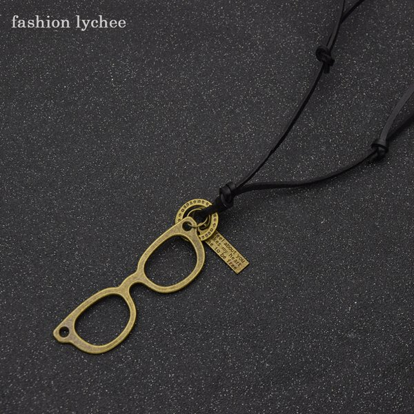 fashion lychee Vintage Punk Metal Gear Tree Of Life Elephant Cat Pendant Necklace For Men Birthday Jewelry Gift