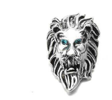 Hot sale 2019 new lion for gift 20pcs/lot DIY retro awesome 18mm noosa charm snap button jewelry snap charm jewelry accessories fit bracelet