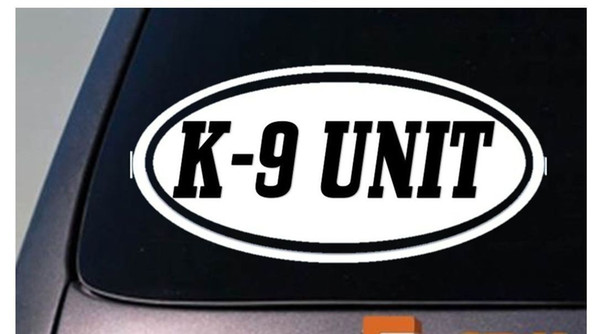Car Styling for K9 Unit Sticker Decal Police Decal Window Decal Sticker Car Sticker