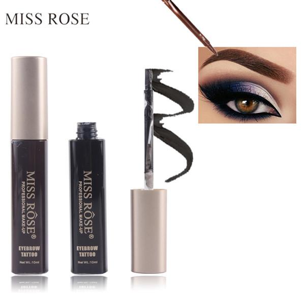 2017 Brand Waterproof Liquid Eyebrow Gel Pigments Eyebrow Enhancers Black Brown Color Eye Brow Tattoo Tint Makeup