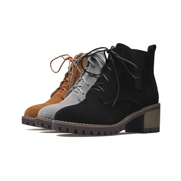 Venta caliente para mujer Botas de moda zapatos con cordones tobillo salto Martin botas B901 EE. UU. Reino Unido tamaño personalizado