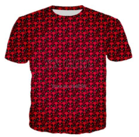New Men/Women Deadpool 3D Graphic Red T Shirts Creative Casual Short Sleeve Tee Shirt Hip Hop Quick Dry Tops Summer Comfortable Tees