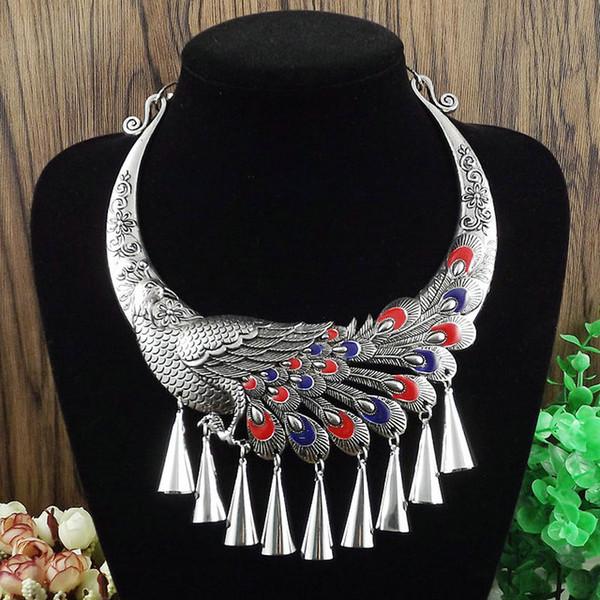 più stili possono scegliere i gioielli Folk wind retro film e collezione televisiva Tibetan collar Miao dance necklace A1165