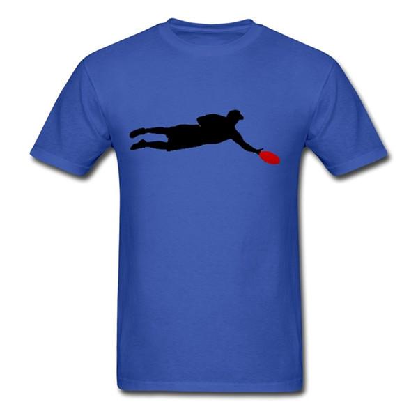 Frete grátis 2018 final frisbee jogador silhueta t-shirt dos homens de manga curta impresso o-pescoço tee para homens