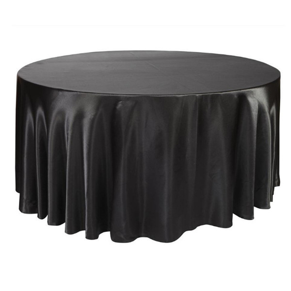 best selling 275cm Round Satin Tablecloth Table Cover for Wedding Party Table Cloth Restaurant Banquet Decorations