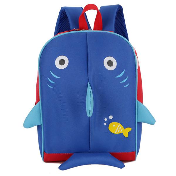 Fashional Cartoon Tier 3D gedruckte Shark School Bag Kinder rosa Kaninchen Rucksack Kinder Kinder schöne Welpen Leinwand Schultern Tasche 20pc
