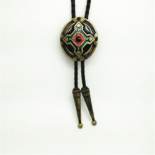 Cowboy bronze totem cross pattern poirot tie zinc alloy wear-resistant high-grade fashion clothing accessories