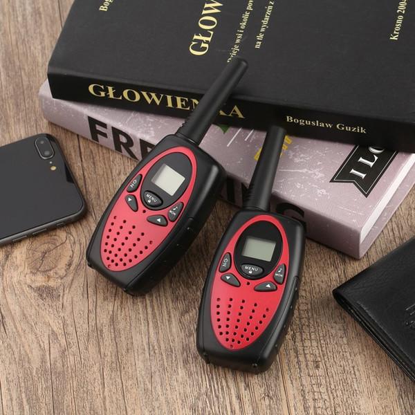 Portable 2 Stück Walkie Talkie Zwei-Wege-Radio Wireless-Sprechanlage mit LCD-Display-Anzeige Einstellbare Lautstärkeregler Gürtelclip