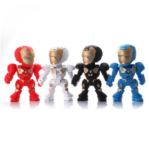 Robot Iron Man Wireless Bluetooth Speaker C-89 LED Speakers USB TF FM Kids Toy