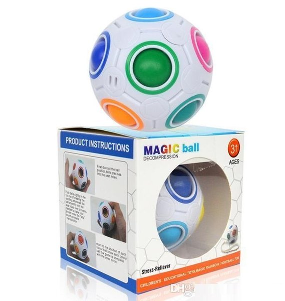 Rainbow Ball Magic Cube Speed Football Fun Creative Spherical Puzzles Kids Educational Learning Toy game for Children Adult Gifts mk0451