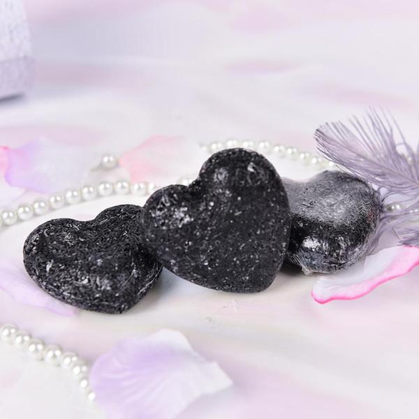 black handmade bamboo charcoal soap skin whitening soap head acne treatment face wash hair remover bath skin care