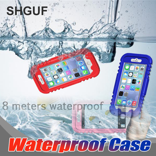 Luxury Dropproof Case For IPhone 6 6s 7 8 Shockproof Waterproof Power Aluminum Glass Protec Diving Full Sealed Waterproof Case