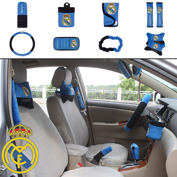 Cool 2019 Unit Auto Accessories La Liga Real Madrid Car Upholstery Steering Wheel Cover Pillow Car Covers Set Universal Automotive Interior From Beatyapartments Chair Design Images Beatyapartmentscom