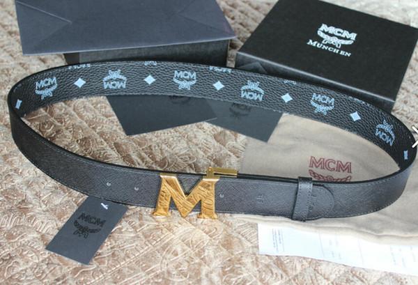M пряжка черный реверсивный ремень с коробкой MCCM Epsom кожаный реверсивный ремень новый официальный мужской ремень с коробкой