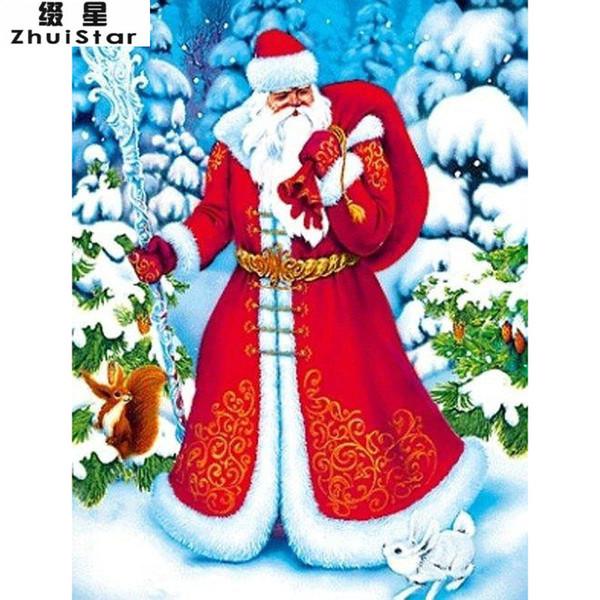 Satın Al Yeni 5d Diy Elmas Boyama Noel Noel Baba Sticker Nakış Tam
