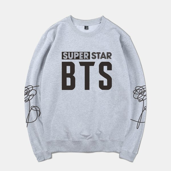 Harajuku Kpop 2018 BTS-SUPER STAR Spring Warm Hoodies Sweatshirt Men/Women Tracksuit Anime Hoodie Clothes Plus Size