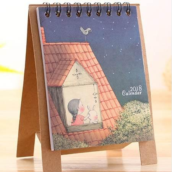 top popular Year Cute Cartoon Creative Desk Standing Paper Multifunction Organizer Schedule Planner NoteBook New Cartoon Calendar 2020