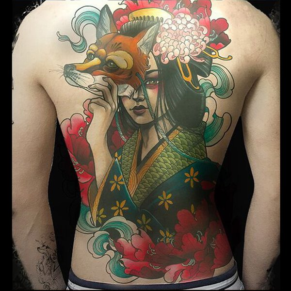 Großhandel Frauen Temporäre Tattoos Super Große Große Größe 189