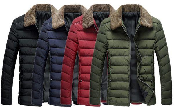 new men winter coats mens designer jackets windbreaker fur collar lapel neck winter jacket mens clothes Parkas for men overcoats outerwear