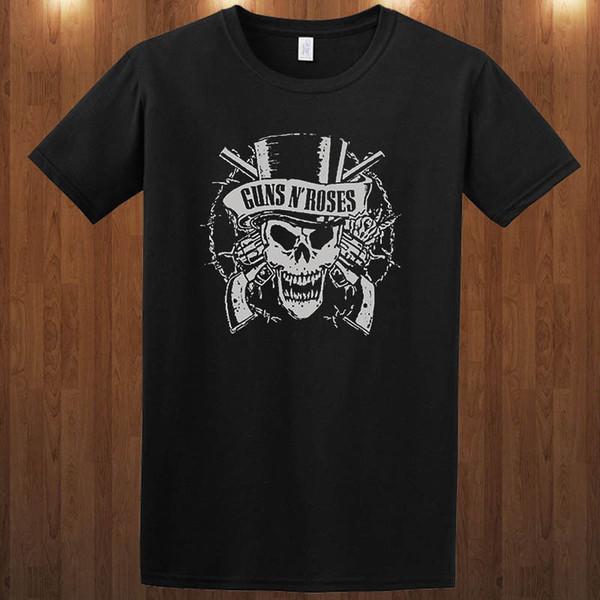 Make Custom T Shirts Regular Guns N' Roses S M L Xl 2Xl 3Xl 4Xl Men O-Neck Short-Sleeve Tee Shirt