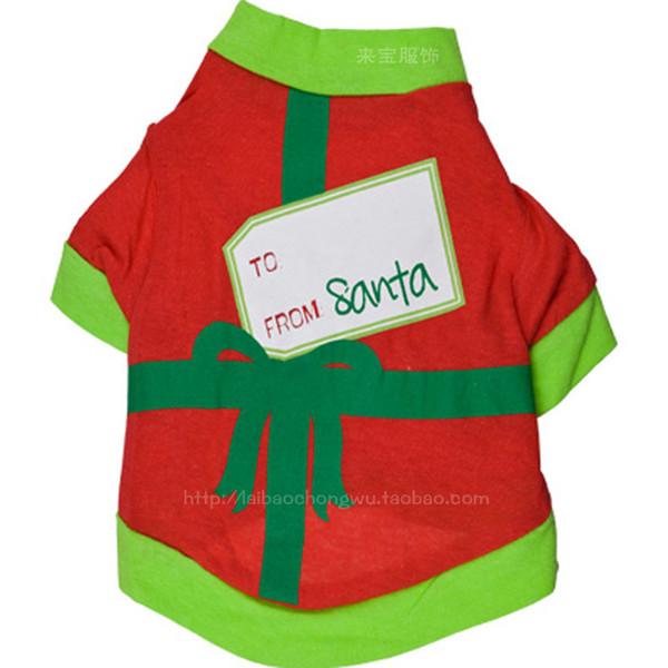 8Pcs/lot Super Cute Christmas Pinted Pet Clothes Party Festival Dog Shirt Hoodie Sweatshirt Winter Apparel Free Shipping