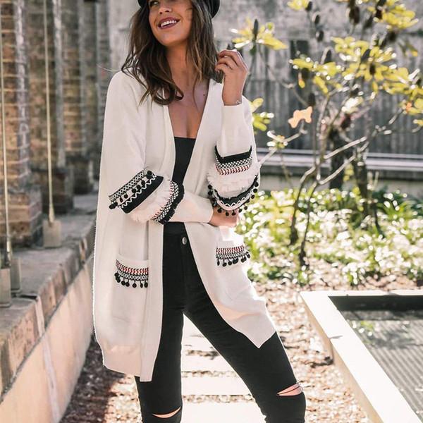 Oversized Womens Long Sleeve Ladies Knitted Sweater Jumper Cardigan Outwear Coats autumn winter outerwear