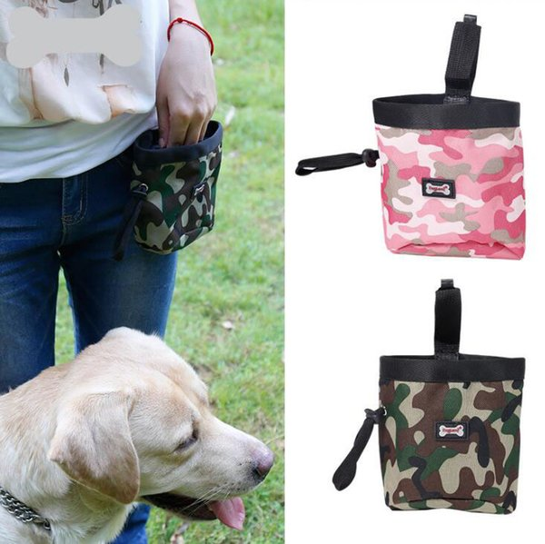 best selling Waist Bag Dog Feeding Bag Pack - Pet Puppy Pouch Walking Food Treat Snack Bag - Pet Food Storage Holder