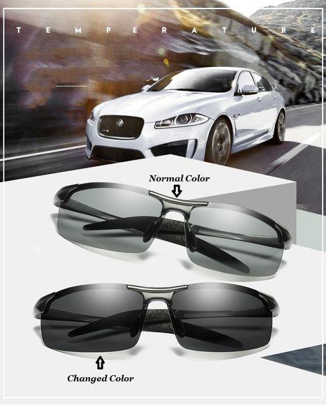 KH изменение цвета фотохромные солнцезащитные очки Мужчины Женщины Титана поляризованные солнцезащитные очки хамелеон антибликовым покрытием вождения