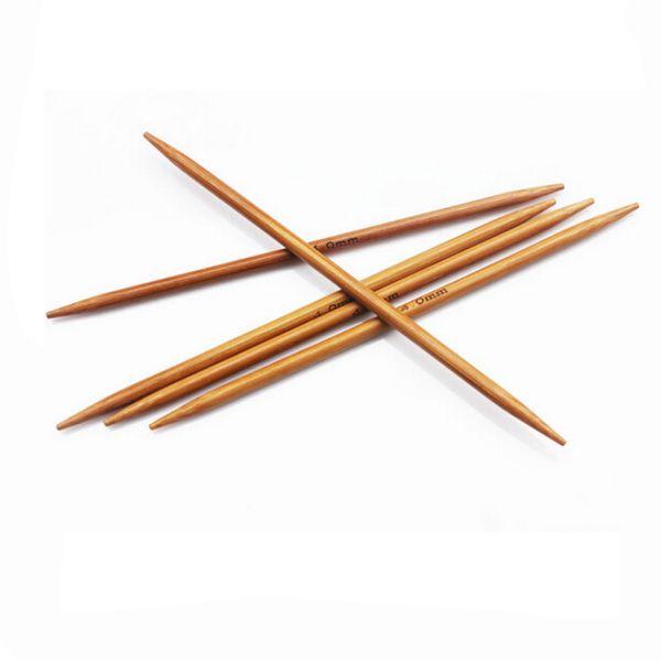 55pcs/set/lot Bamboo Charcoal Needles Natural Straight Knitting Craft Needlework Sewing Accessories DIY Craft