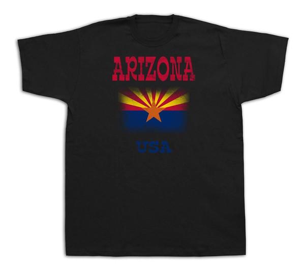 Bandeira do Arizona EUA estado lembrança cidade turística sites t shirt engraçado casual