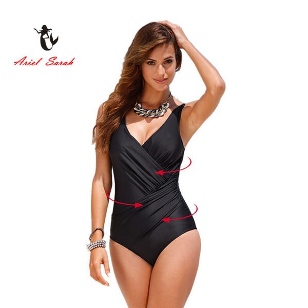 b652ccda47 2018 One Piece Swimsuit Brazilian Bikini Set Sexy High Waist Beachwear Plus  Size Swimwear Women Black