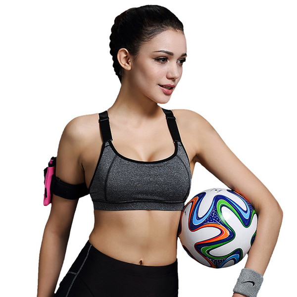 Sports Bra Women Fitness Yoga Padded Push Up Breathable Gym Bra Sujetador Brasieres Deportivos Soutien Gorge Sport Top