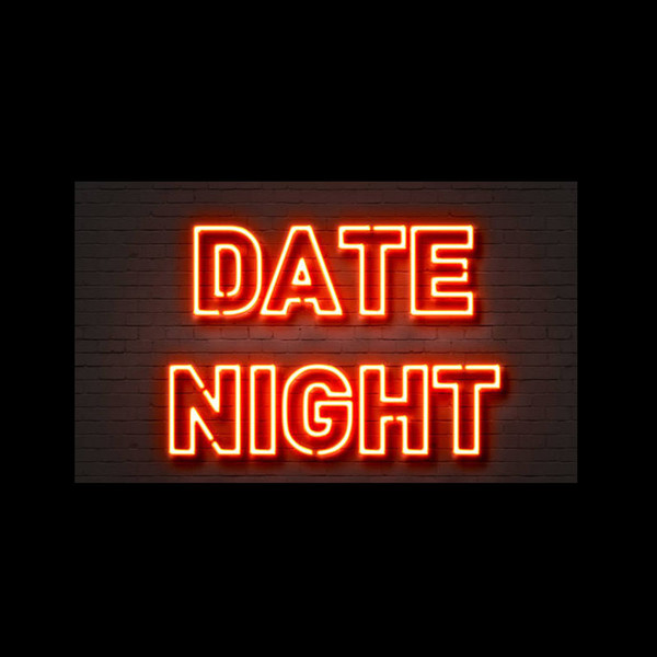 "Date Night Neon Sign Custom Handmade Real Glass Tube Party Dating Home Window Art Decoration Display Neon Signs 17""X14"""