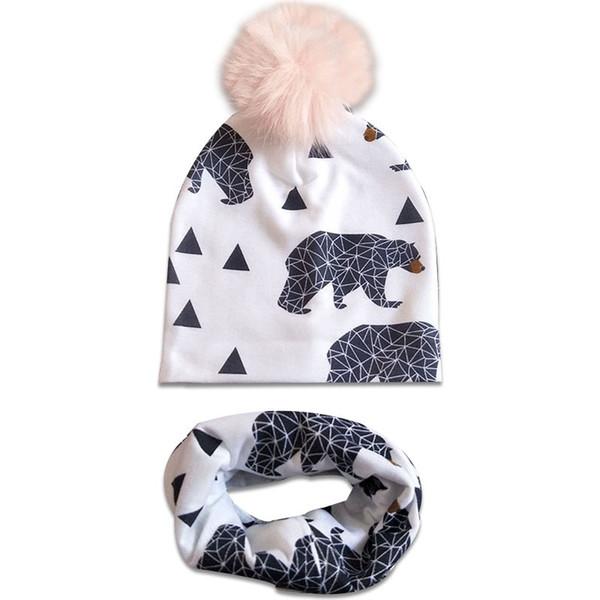 fashion newborn baby children hat cap scarf for girls boy baby born care infant toddler hats bonnet skullies beanies for kids boys C147