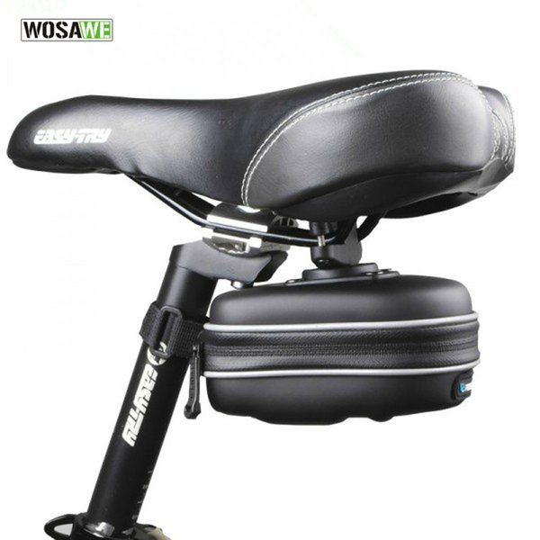 WOSAWE EVA Waterproof Cycling Mountain Road MTB Bicycle Bike Saddle Seat Rear Bag Quick Release Hanging Ring New Black