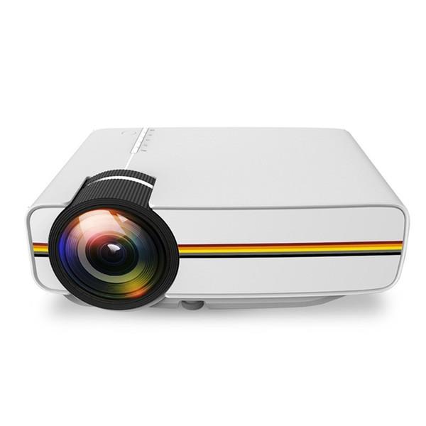 Portátil LED Projetor 1080 P 1000 Lumens Projetor de Filme para o Interior Ao Ar Livre Suporte Noturno DVD Player HD Jogos de Partido LCD Mini Projetor